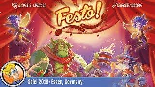 Festo! — game overview at SPIEL '18
