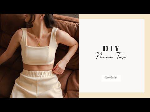 DIY Nora Lounge Top Tutorial - tintofmintPATTERNS - YouTube