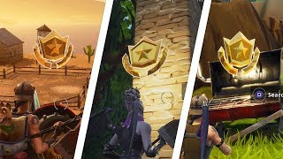 Fortnite Battle Royale - All 5 Secret Season 6 Battle Star Locations Guide (Free Battle Pass Tiers)