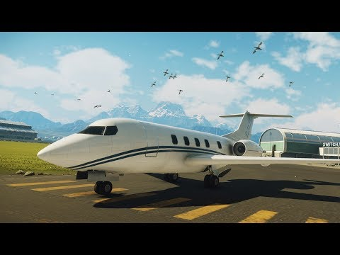 Just Cause 4 - EM-909 Private Jet - Open World Free Roam Gameplay (PC HD) [1080p60FPS]