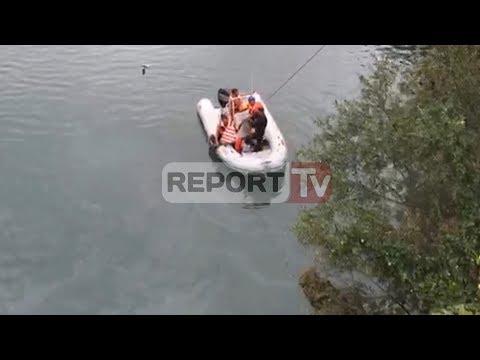 Report TV - Aksident në Shkodër,makina bie në lumin Drin,vdes 28-vjeçari