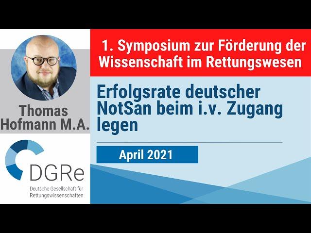 Thomas Hofmann: Erfolgsrate deutscher NotSan beim Zugang legen