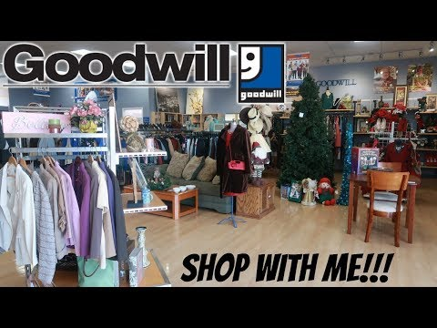 GOODWILL THRIFT STORE * SHOP WITH ME