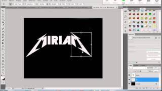 Texto con las letras de Metallica metalizadas