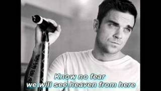 Robbie Williams Heaven from here karaoke (Instrumental with lyrics)