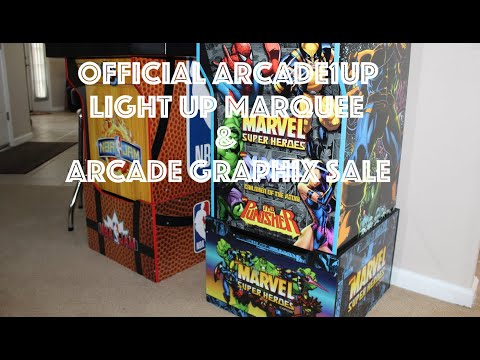 Arcade1Up Light Up Marquees & Arcade Graphix Cyber Monday Sale from Original Console Gamer