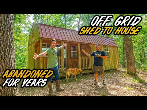 I bought an ABANDONED OFF GRID HOMESTEAD! Shed To House Conversion into a Tiny House!