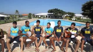 Seleção juvenil masculina canta paródia do Mundial