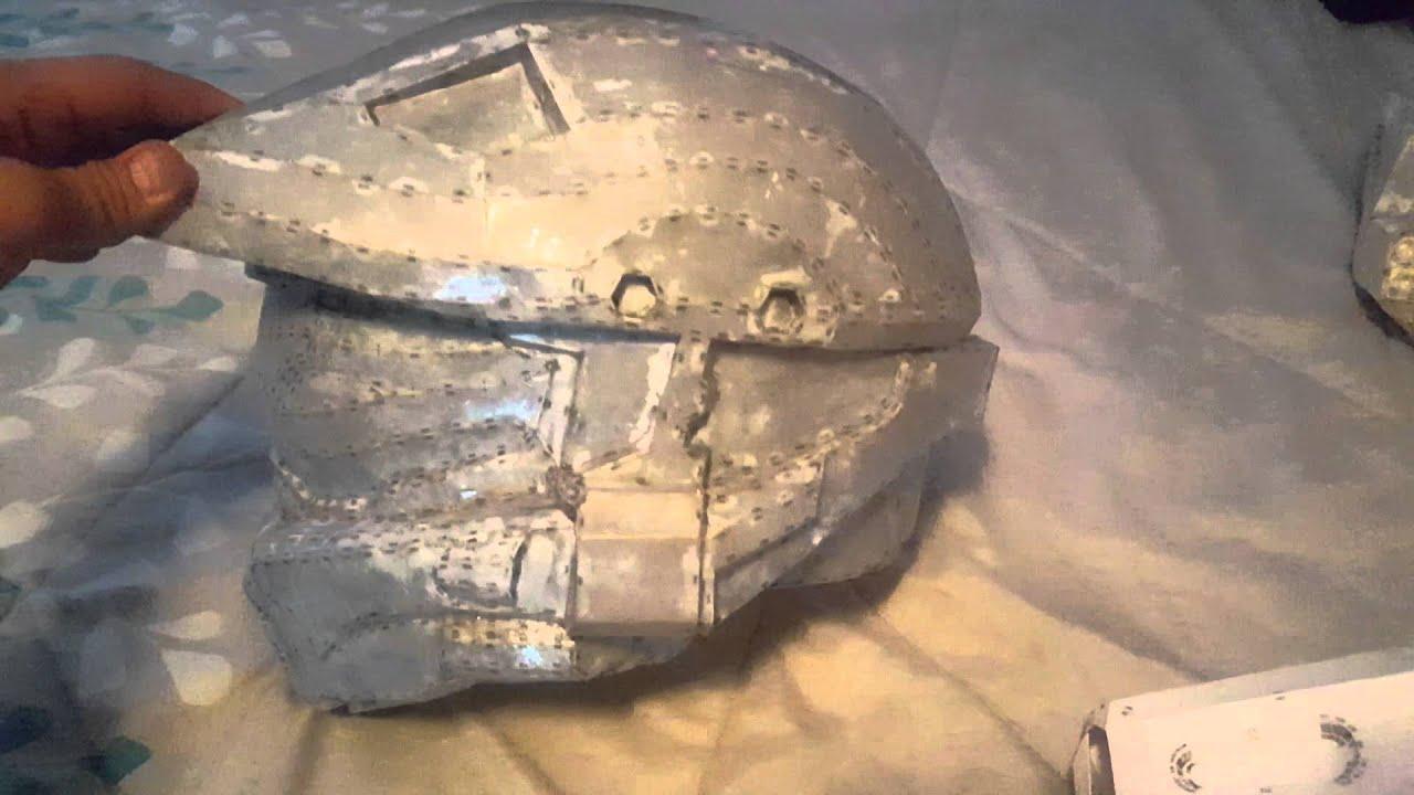 Pepakura halo 4 master chief mark VI helmet - YouTube