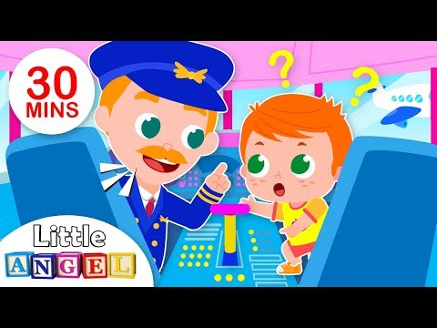 Baby Goes on an Airplane | Baby at the Airport, Flight | Kids Songs & Nursery Rhymes by Little Angel