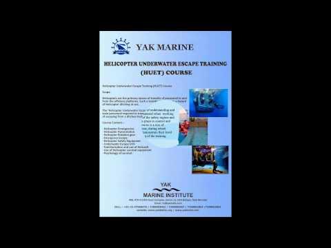 Offshore Training Course HUET + BOSIET + FRB + H2S + HAZMAT Mumbai India