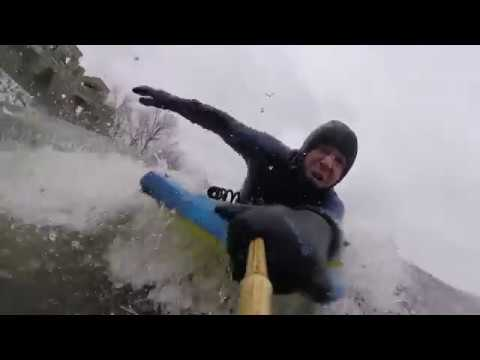 Carlos Hebért invites you to try boardercross ice bodyboarding
