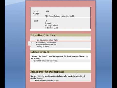 Top 10 Resume Format How To Create Cv Resume Resume Kaise