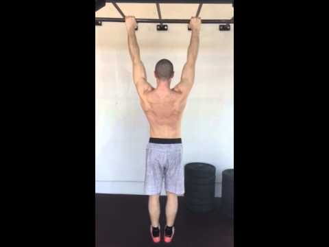 Scap only pull ups