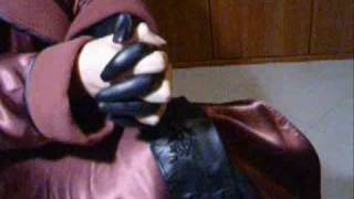Shiny gloves latex,leather