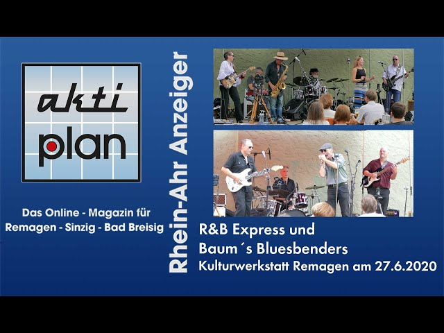 R&B Express + Baums Bluesbenders in der Kulturwerkstatt Remagen