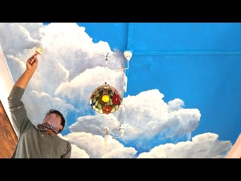 Wall painting ceiling clouds / interior designs