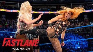 FULL MATCH Becky Lynch Naomi vs Natalya Carmella WWE Fastlane 2018