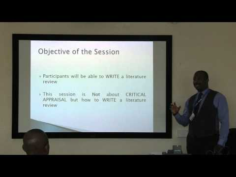 Introduction to 'How to Write a Literature Review' Workshop