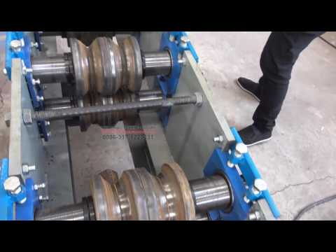 Roll forming machine made round tube become square tube