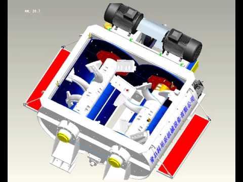 Twin shaft concrete mixer from QINGDAO XINXING CONSTRUCTION MACHINERY.