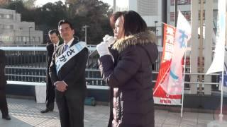 2014年12月7日、三原じゅん子参議院議員がさかい学候補の応援演説をされ...