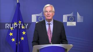 Belgium  Chief EU and UK negotiators announce start of Brexit negotiations