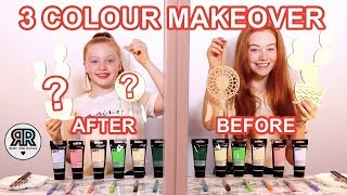 Twin Telepathy 3 Color Paint & Marker Makeover Challenge *Cheap DIY'S | Sis vs Sis | Ruby and Raylee