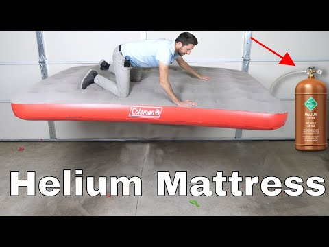 Filling An Air Mattress With Helium To See If I Can Float!