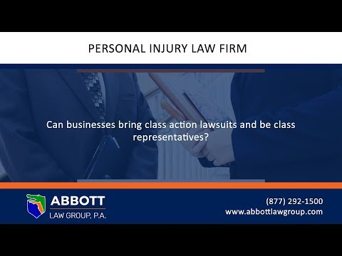 Can businesses bring class action lawsuits and be class representatives?