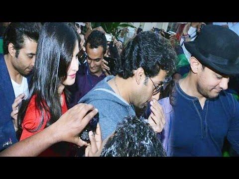 Dhoom 3 actors Katrina, Aamir Khan, Abhishek Bachchan mobbed by fans