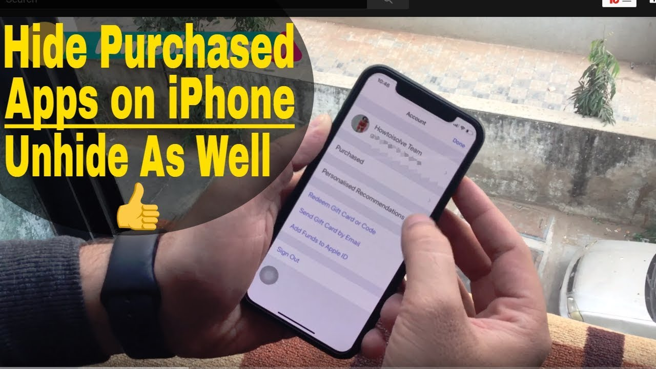 iOS 13/12/iOS 12 4 : How to Hide Purchased Apps on iPhone or