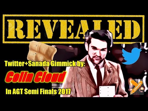 Revealed: Colin Cloud (Twitter Sanada Gimmick Trick) in AGT 2017 Semi Finals