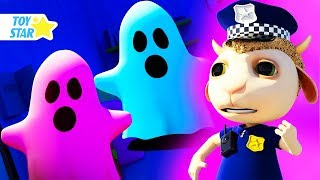 New 3D Cartoon For Kids ¦ Dolly And Friends ¦ Real Ghost Patrol And Johny Police Jail Playhouse #159