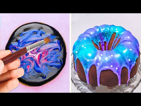 28 COSMIC DESSERT RECIPES YOU'LL BE CRAZY ABOUT! || Cookies art design and decor ideas