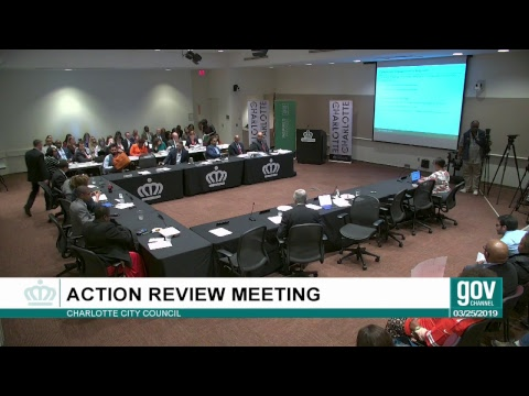 City Council Action Review Meeting : March 25, 2019