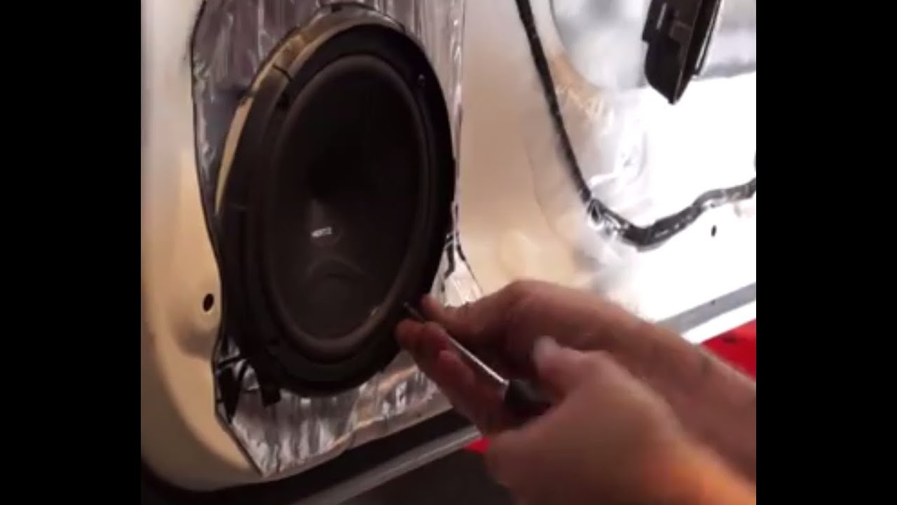 small resolution of part 4 installing component speakers subwoofer sound deadening doors