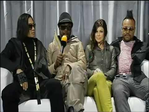 Black Eyed Peas backstage bei WettenDass