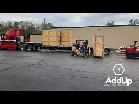 AddUp Machine Arrival Timelapse - Cincinnati