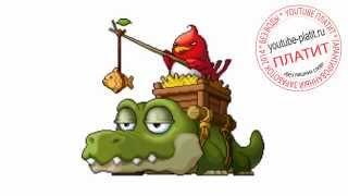 Как нарисовать поэтапно крокодила с птицей за 36 секунд(Как нарисовать картинку поэтапно карандашом за короткий промежуток времени. Видео рассказывает о том,..., 2014-07-23T04:48:56.000Z)