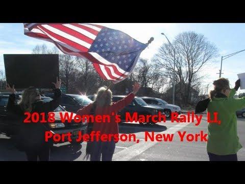 Womens March Rally LI 2018 Port Jefferson, NY (video)