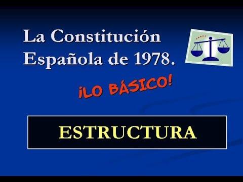 Constitución Española: Estructura - YouTube