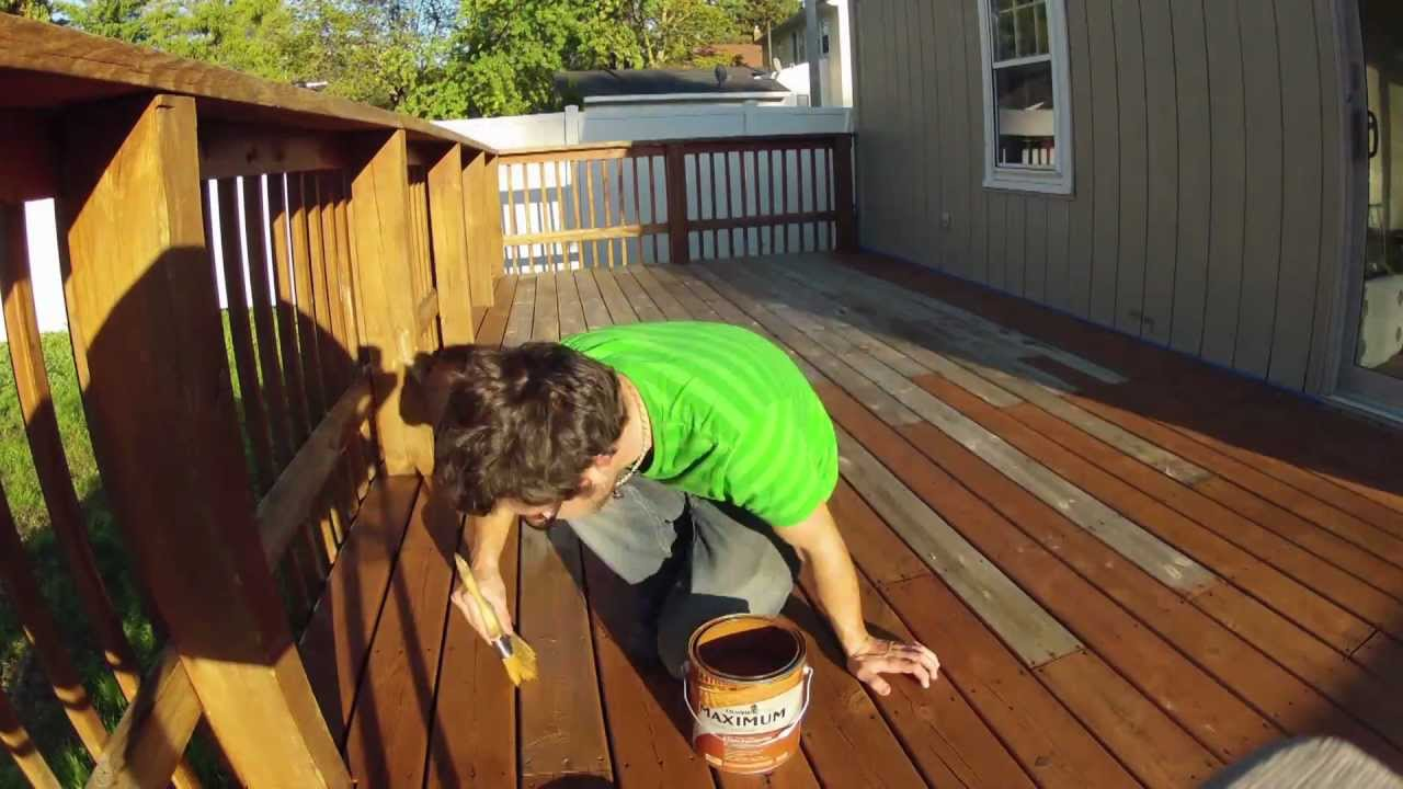 TIMELAPSE   DeckStain/Powerwash, 717 Redwood   YouTube