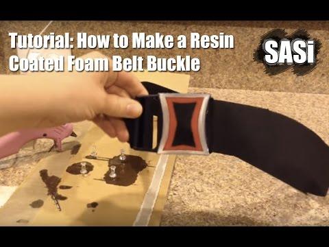 Tutorial: How to Make Resin Coated Foam Belt Buckle