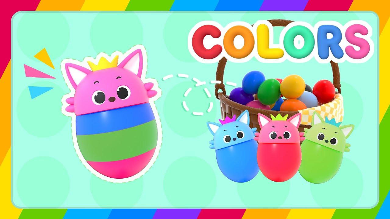 Huevos Sorpresas   Aprende Colores en Inglés    @Hogi & Pinkfong! Playground: ABCs, Colors&Numbers