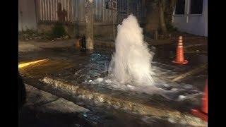 Ruptura de caño maestro dejó media ciudad sin agua