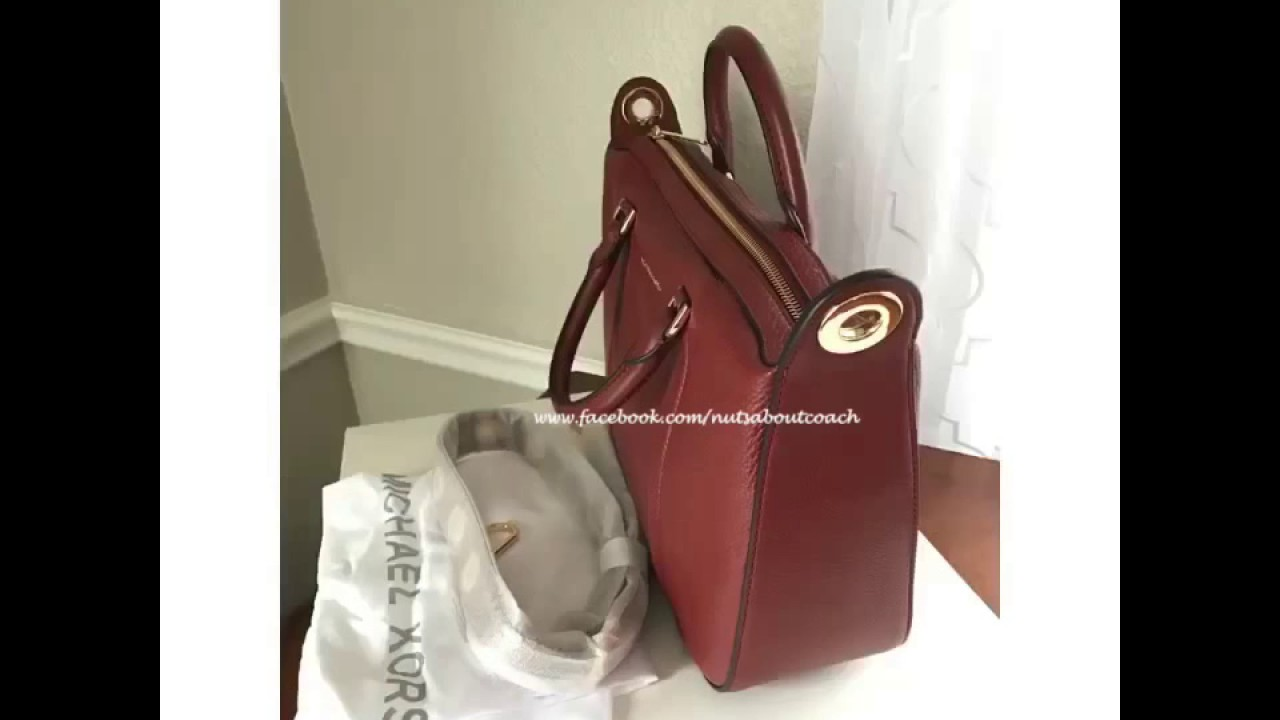 bee0c30dcefb MICHAEL KORS RAVEN LARGE SATCHEL IN BRICK - YouTube