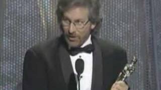 """Steven Spielberg winning an Oscar® for """"Schindler"""