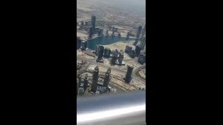 Burj khalifa dubai top to sky 148 floor view