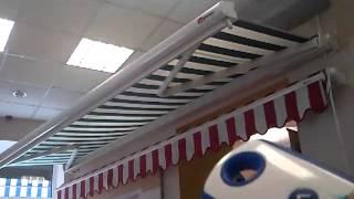 Выдвижная террасная маркиза Riva с электроприводом(В предыдущем видео мы уже показывали работу маркизы открытого типа с ручным приводом. А теперь наши дизайне..., 2012-09-11T07:33:42.000Z)